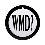 WMD? (Round Holiday Ornament)