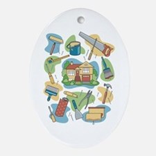 Home Improvement Ornament (Oval)