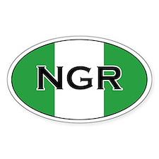 Nigerian Flag Oval Decal