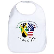 Jamaican American Baby Bib