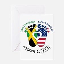 Jamaican American Baby Greeting Cards