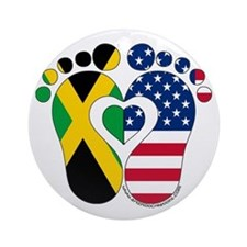 Jamaican American Baby Ornament (Round)