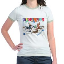 Party Dachshunds Ringer T-shirt