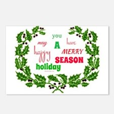 Holiday Message Postcards (package Of 8)