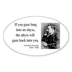 Nietzsche 9 Oval Decal