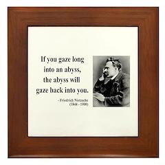 Nietzsche 9 Framed Tile