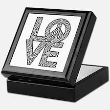 Checkered Warp LOVE=Peace Keepsake Box
