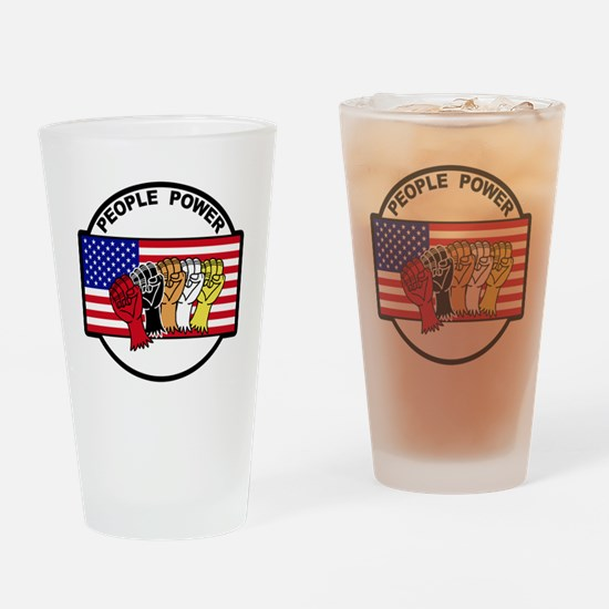 Unique People power Drinking Glass