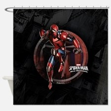 Web Warriors Spyder Knight Shower Curtain