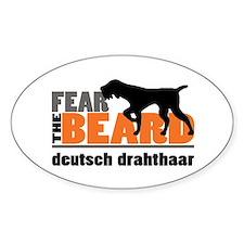 Fear the Beard - Deutsch Drahthaar Bumper Stickers