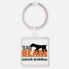 Fear the Beard - Deutsch Drahthaar Square Keychain