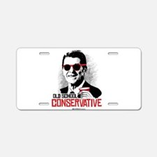 Reagan: Old School Conserva Aluminum License Plate