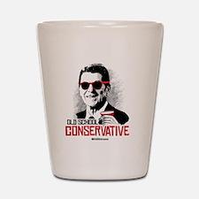 Reagan: Old School Conservative Shot Glass