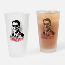 Reagan: Old School Conservative Drinking Glass