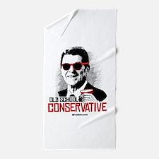 Reagan: Old School Conservative Beach Towel