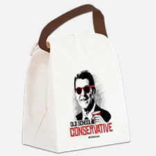 Reagan: Old School Conservative Canvas Lunch Bag