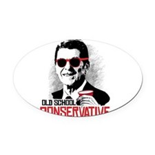 Reagan: Old School Conservative Oval Car Magnet