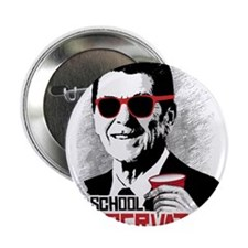 "Reagan: Old School Conservative 2.25"" Button"