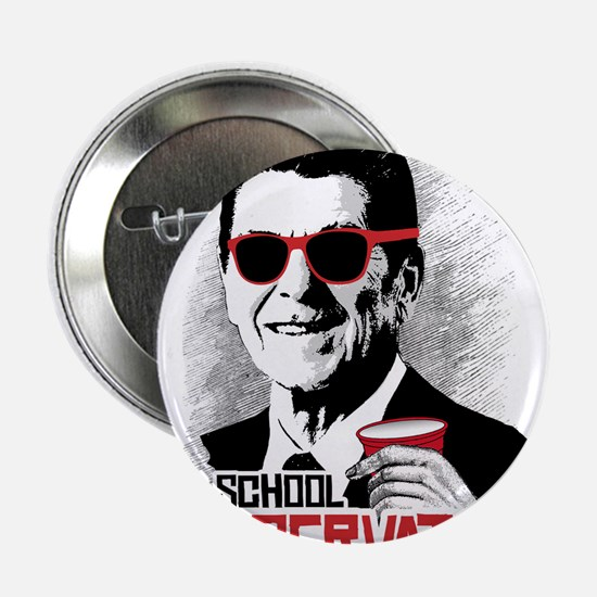 "Reagan: Old School Conserva 2.25"" Button (10 pack)"