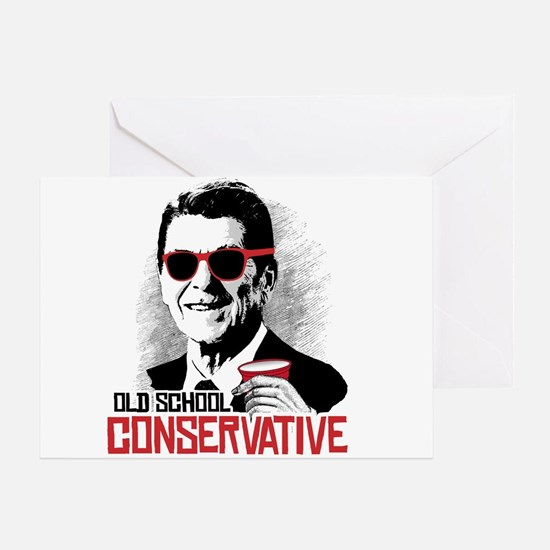 Reagan: Old School Conservative Greeting Card