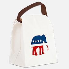 Republican Elephant Canvas Lunch Bag