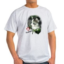I Love Huskies T-Shirt