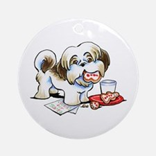 Shih Tzu Cookies Ornament (Round)