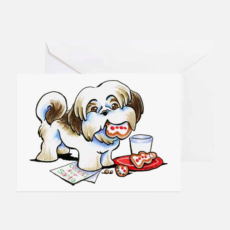 Shih Tzu Cookies Greeting Cards