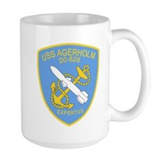 DD-826 A USS AGERHOLM Destroyer Ship Military Mugs