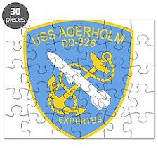 DD-826 A USS AGERHOLM Destroyer Ship Milita Puzzle