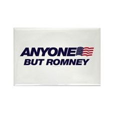 Anyone But Romney Rectangle Magnet