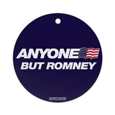 Anyone But Romney Ornament (Round)