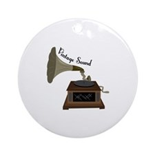 Vintage Sound Ornament (Round)