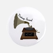 """Vintage Sound 3.5"""" Button"""