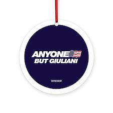 Anyone But Giuliani Ornament (Round)