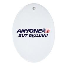Anyone But Giuliani Oval Ornament