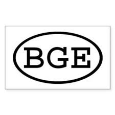 BGE Oval Rectangle Decal