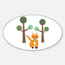Fox In Woods Decal