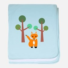 Fox In Woods baby blanket