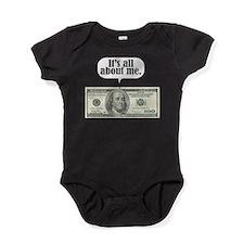 Cute 100 dollar bill Baby Bodysuit