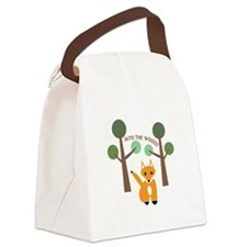 Into The Woods Canvas Lunch Bag
