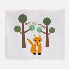 Into The Woods Throw Blanket