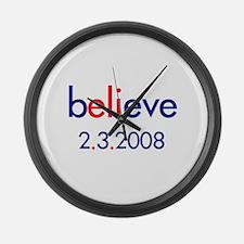 bELIeve Large Wall Clock