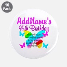 "BLESSED 95TH 3.5"" Button (10 pack)"