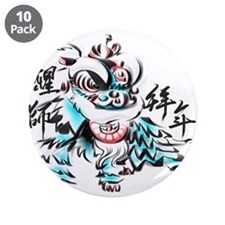 "Chinese Lion 3.5"" Button (10 pack)"
