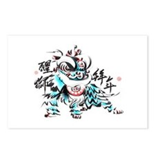 Chinese Lion Postcards (Package of 8)