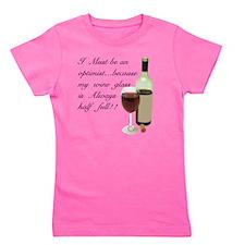 Wine Glass Half Full Optimist Girl's Tee