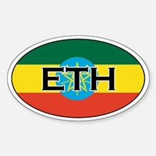 Ethiopia Flag Oval Decal