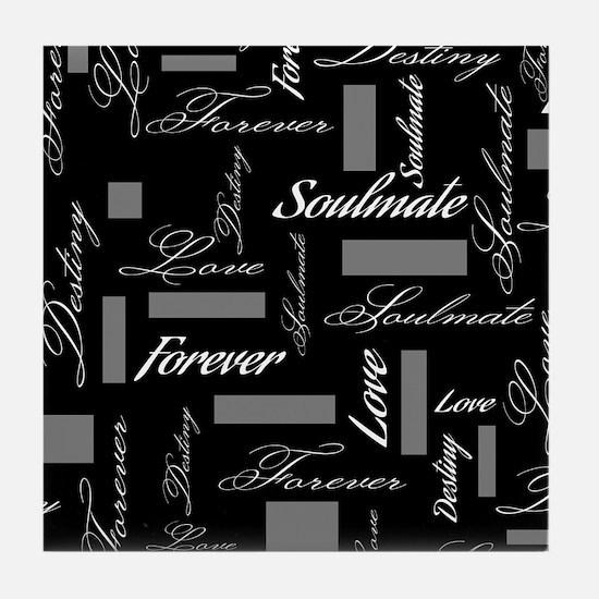 Soulmate Forever Love Destiny Tile Coaster