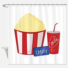 Movie Snacks Shower Curtain